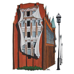 Flatiron Building Mural Toronto Greeting Card