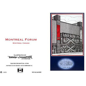 Montreal Forum Hockey Greeting Card
