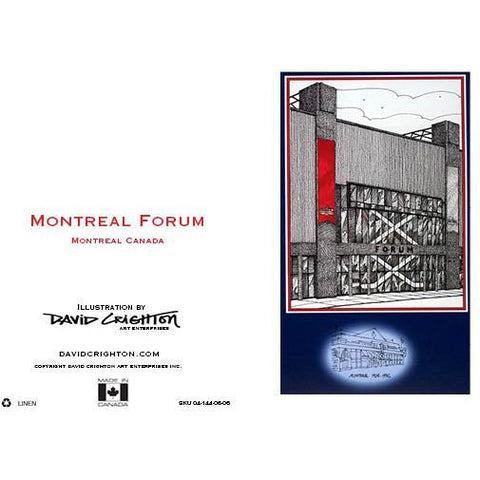 Montreal Forum Hockey Card by David Crighton