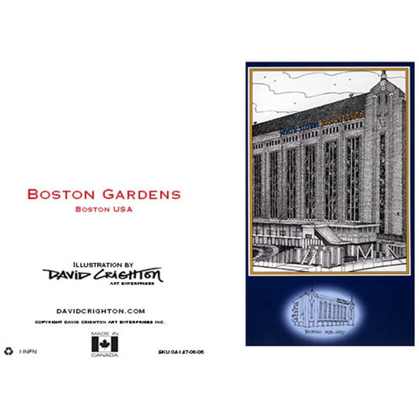 Boston Gardens Hockey Card by David Crighton
