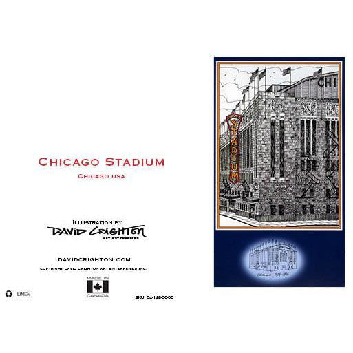 Chicago Stadium Hockey Card by David Crighton