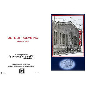 Detroit Olympia Hockey Card by David Crighton