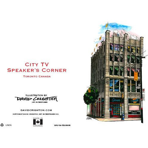 City TV Speaker's Corner Card by David Crighton