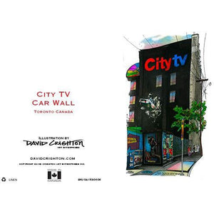 City TV Car Wall Card by David Crighton