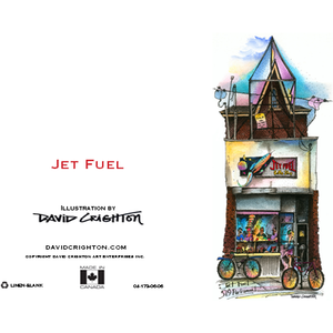 Jet Fuel Coffee Shop Toronto Greeting Card