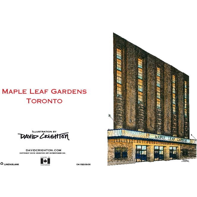 Maple Leaf Gardens Hockey Card by David Crighton