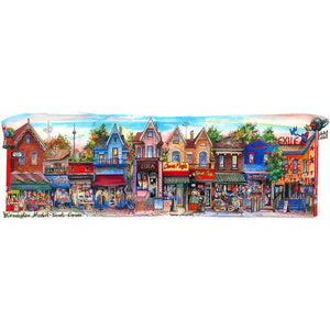 Kensington Market Toronto  Glass Framed Art Print
