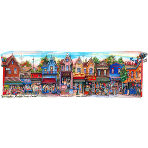 Toronto Wall Art of popular Kensington Market Neighbourhood makes a unique gift