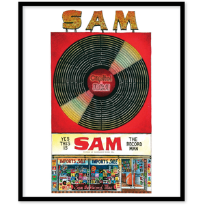 Sam The Record Man Toronto Canvas Wall Art