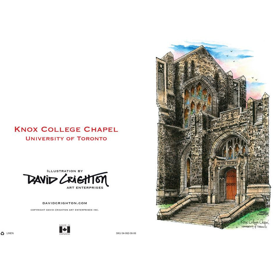U of T - Knox College Card by David Crighton