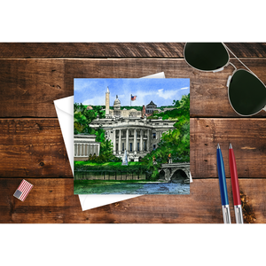 Washington White House Note Card