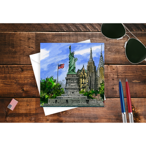 New York, NY, USA Greeting Card