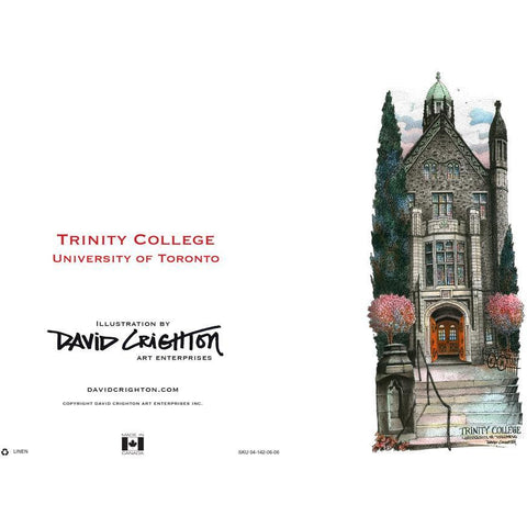 U of T - Trinity College Card by David Crighton