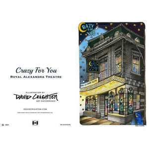 Crazy For You Theatre Greeting Card