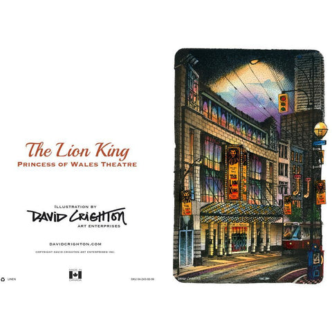 Lion King (Wales) Card by David Crighton
