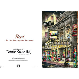 Rent Theatre Greeting Card