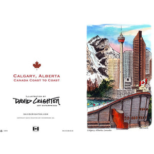 Calgary  (Coast to Coast) Cards by David Crighton