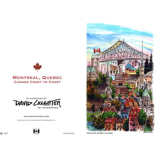 Montreal (Coast to Coast) Cards by David Crighton