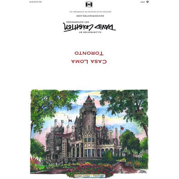 Casa Loma Card by David Crighton
