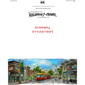 Leslieville Toronto Greeting Card