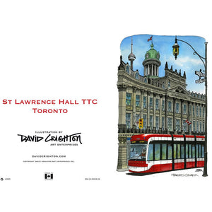 St. Lawrence Town Hall With Streetcar Day Note Card