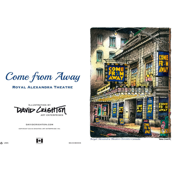 Come From Away Card by David Crighton