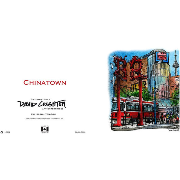 Chinatown Streetcar Card by David Crighton
