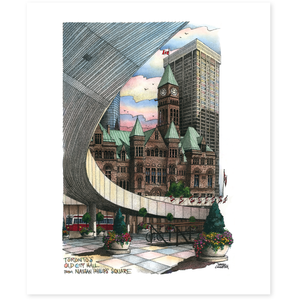 Nathan Phillips Toronto Art Print