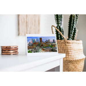 Skyline Looking West Toronto Greeting Card
