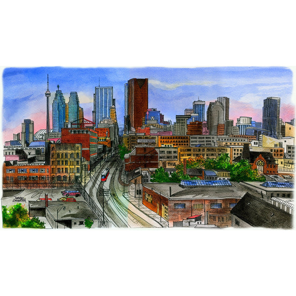 Skyline Of Toronto Looking West Card by David Crighton
