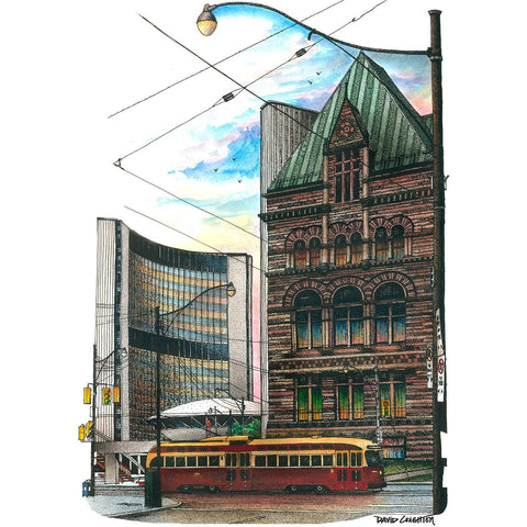 Post Card - City Halls  by David Crighton