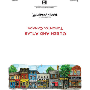 Queen St W Atlas Machinery Toronto Greeting Card