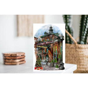 Distillery District Toronto Christmas  Card