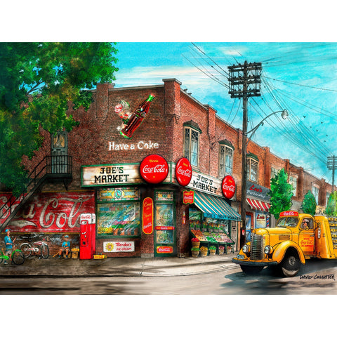 Post Card - Joe's Coca Cola Market, Toronto by David Crighton