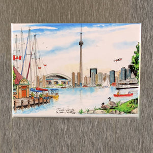 Toronto Skyline from the Island Fridge Magnet