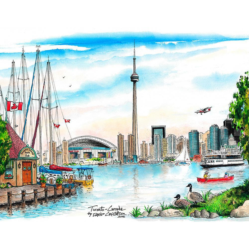 Skyline Mural, Toronto by David Crighton