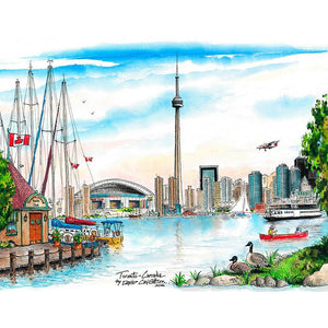 Toronto Island Skyline Wall Art
