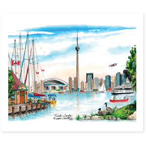 Toronto Skyline Poster from the Island