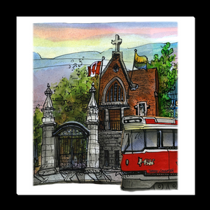 Trinity Bellwoods Streetcar TTC Canvas Wrapped