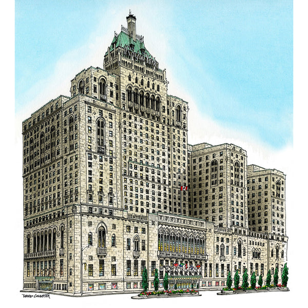 Post Card - Royal York Hotel, Toronto by David Crighton
