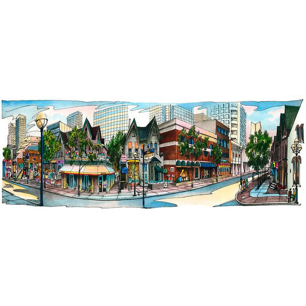 Post Card - Yorkville, Toronto by David Crighton