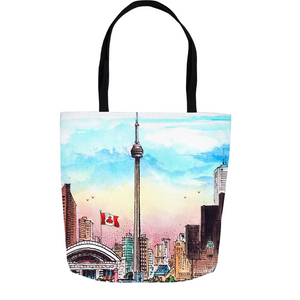 Toronto CN Tower Skyline Tote Bags