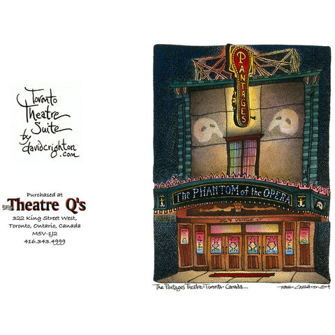 Phantom of the Opera (Pantages) Card by David Crighton