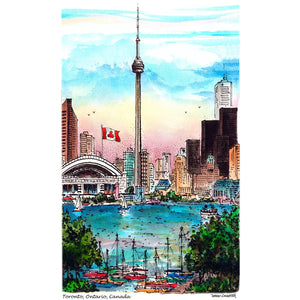 Toronto Skyline Poster with CN Tower