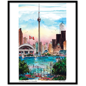 Toronto Skyline CN Tower Canvas Wall Art