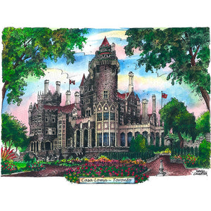 Casa Loma Toronto Attraction Postcard