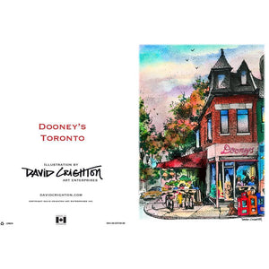 Dooneys Pub Toronto  Greeting Card