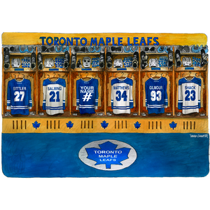 Maple Leafs Hockey Locker Room Canada Art Print