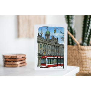 St. Lawrence Town Hall With Streetcar Day Greeting Card