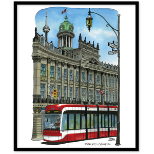 Streetcar at St. Lawrence Hall Canvas Wall Art
